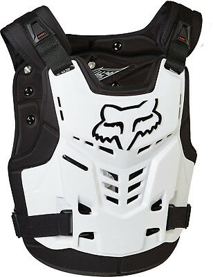 Fox MX Proframe LC White Adult Chest Protector/Roost Guard/Deflector MX ATV BMX