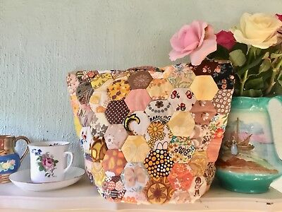Vintage handmade Patchwork Tea Cosy or teapot cover