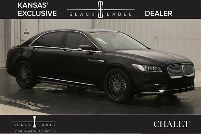 2017 Lincoln Continental BLACK LABEL CHALET THEME ALL WHEEL DRIVE AWD MSRP $68748 TURBOCHARGED AUTOMATIC, ALCANTARA  HEADLINER, VENETIAN LEATHER TRIM SEATS