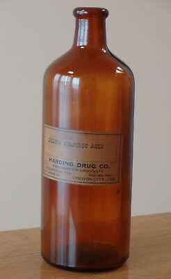 Antique Pharmaceutical Apothecary Bottle Oregon City