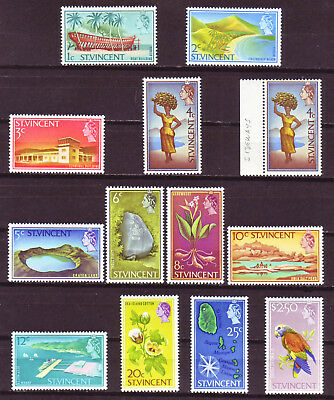 St. Vincent 1965; Short Definitive Set Of 13; Sc # 226-236, And 239; Mint Hinged