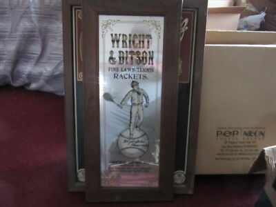 Wright & Ditson Antique Tennis Racket Mirror Sporting Goods Sign Old Vtg L@@K