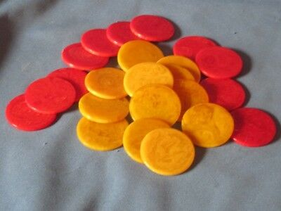 Gaming Chip Counters Red Yellow Marbled Bakelite 111 Yellow 85 Red Craft Jewelry
