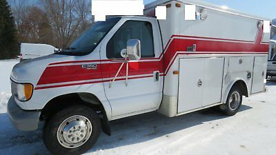 1998 Ford E350 7.3L Powerstroke Turbo Diesel Rescue Ambulance Only 8K Miles