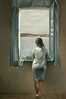 CROP Salvador Dali Woman at the w - CANVAS PRINT READY TO HANG or ROLLED FROM A4