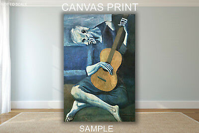 Pablo Picasso The Old Guitarist - CANVAS PRINT FRAMED or ROLLED FROM A4
