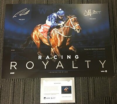 Winx Racing Royalty Three Time Cox Plate Winner Dual Signed Bowman Waller Print
