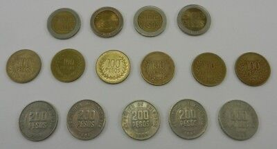 Colombia: Mixed Lot of 15 Colombian Coins from 1993-2004