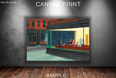 CANVAS PRINTS FRAMED or ROLLED FROM A4 - Nighthawks