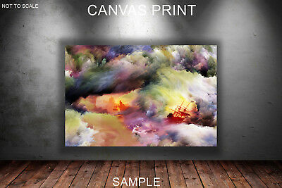 CANVAS PRINTS FRAMED or ROLLED FROM A4 - Ships in the storm Abstract