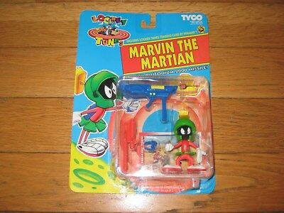 1993 Looney Tunes TYCO Marvin The Martian Action Figure W/ Plutonium Missile