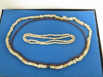 3 Necklaces Columbia River Wakemap Mound Trade Beads Ex Baker Collection