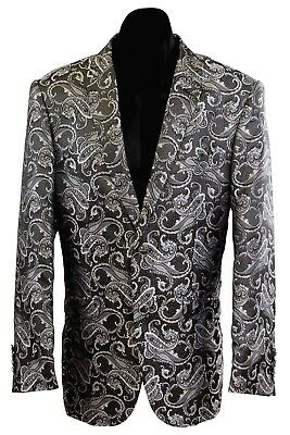 New Men's Two Button Floral Paisley Pattern Sport Coat