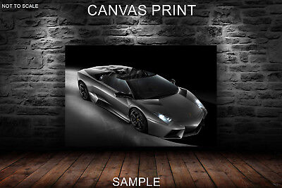 CANVAS PRINTS FRAMED or ROLLED FROM A4 - Lamborghini Black and white