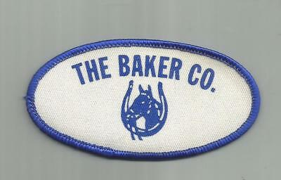 Vintage The Baker Company Horse Blanket  Philadelphia Pa Patch Horseshoe Head