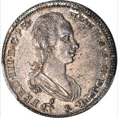 Italy Tuscany 1791 2 Paoli (16 Crazie), Uncirculated & Rare, Certified Pcgs Ms62