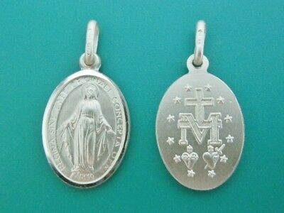 Sterling Silver 925 MIRACULOUS MEDAL Mother Mary Medal Pendant Confirmation Gift