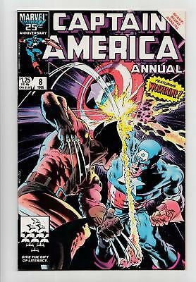 Captain America Annual #8 Wolverine Cover, Appearance (Marvel 1986) NM 9.4