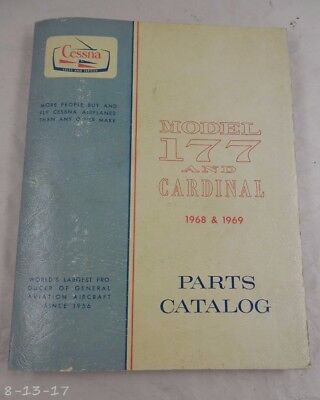 1968 - 1969 Cessna 177 & Cardinal Parts Manual Catalog