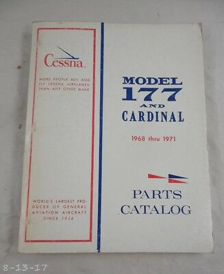 1968 thru 1971 Cessna 177 & Cardinal Parts Manual Catalog
