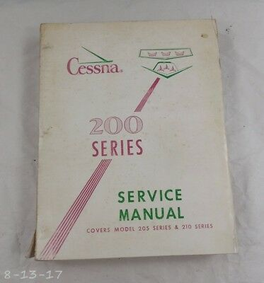 1963 Cessna 200 Series Service Manual Catalog Colored Diagrams