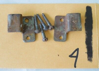 Antique Org Globe Wernicke Stacking Bookcase Door Roller Hinge With Screws #4