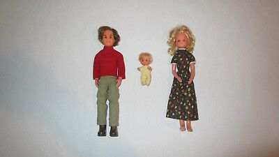 Vintage 1973 Mattel Sunshine Family Dolls Dad Mom Baby