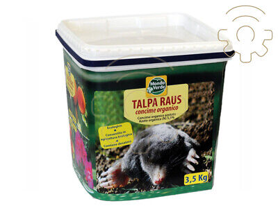 Taupe Raus 3,5 kg mover rodent repellent for moles with fertilizer organic azota