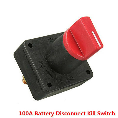100A Battery Master Disconnect Rotary Cut Off Isolator Kill Switch Car Van Boat