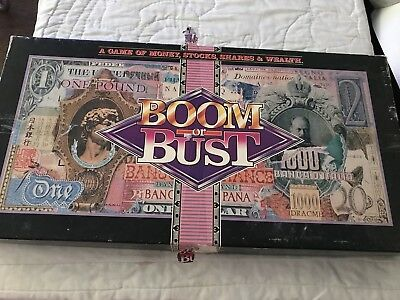 Boom Or Bust: A Game Of Money, Stocks, Shares & Wealth Board Game (Complete)