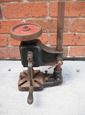 Vintage  Hand Crank Drill Press  Germany  Aprox 17 inches high