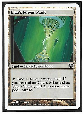 Magic The Gathering MTG 9TH EDITION URZA'S POWER PLANT Uncommon Land - VG/NMint
