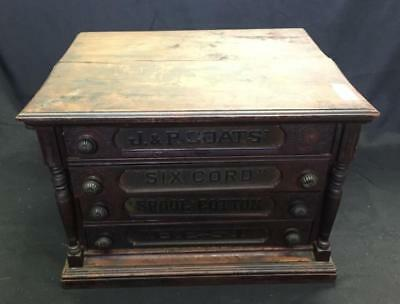 J&P Coats antique spool cabinet. Lot 160