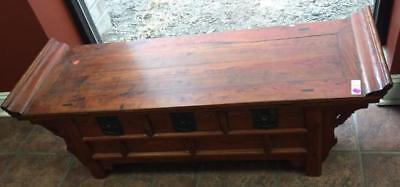Asian low coffee table/storage chest having Lot 155