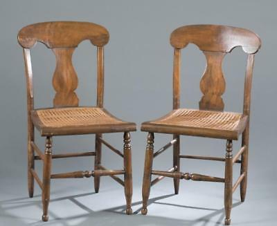 Six Empire style caned seat chairs. Lot 151