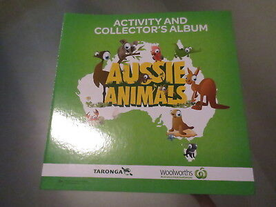 Aussie Animals Woolworths Activity and Collector's Album Complete Set 108 Cards