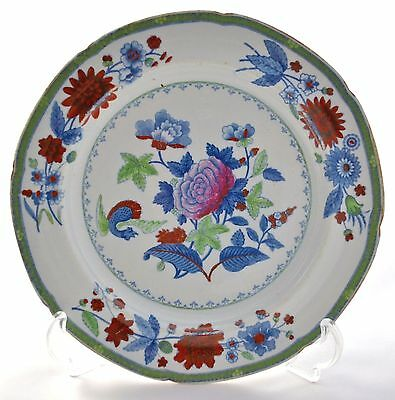 "Antique Spode Stone China Mythical Creature Floral 8.25"" Plate No. 2137 C1813-22"