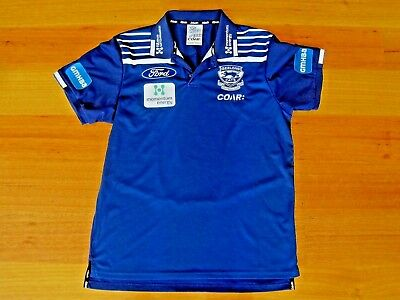 SHANE OBREE OWNED AFL APPROVED GEELONG POLO by COAR size Adult MEDIUM