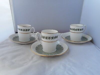 "THREE SPODE ""PROVENCE Y7843"" CUPS and SAUCERS"