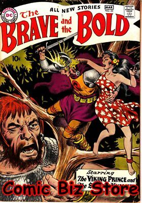 The Brave And The Bold #22 (1959)  Joe Kubert Viking Prince Silver Age Dc Fn-