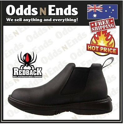 RRBN RETRO Redback BLACK WAITER CHEF SHOES WATER OIL REPELLENT LEATHER SHOES