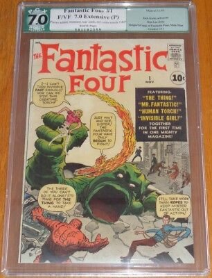 Fantastic Four #1 Pgx (7.0) White Pages Restored Jack Kirby Stan Lee 1St App (Sa