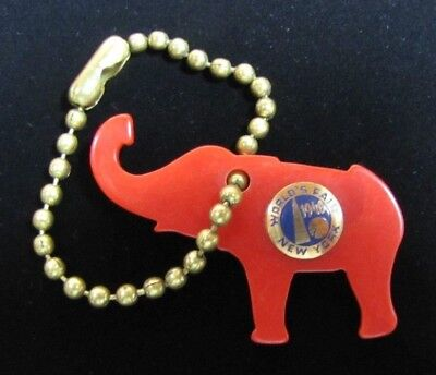 Orig 1940 New York World's Fair REPUBLICAN Party ELEPHANT Keychain RHTF NYWF