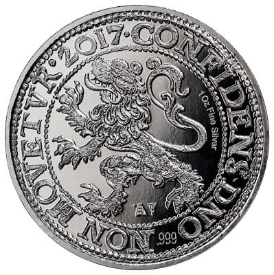 2017 Netherlands 1 oz Silver New York Lion Dollar Restrike GEM BU SKU49451