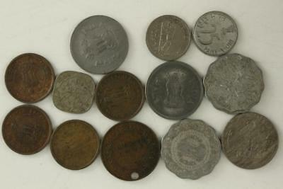 Vintage WORLD Coin Mixed Date Lot INDIA Rupees King George VI Drilled