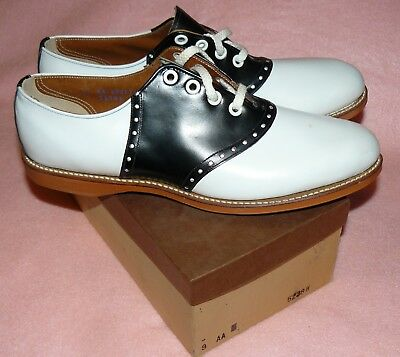 50s 60s vtg NOS Saddle Shoes oxford cheerleader bearfoot rockabilly sock hop 9