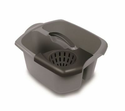 Addis Double Mop Bucket Premium Quality Wringer Metallic Graphite Sturdy Handle