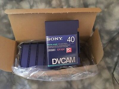 Brand New Sony PDVM-40N Mini DV Cam Tapes, 9 Tapes, IC Memory, Domestic Sale, NR