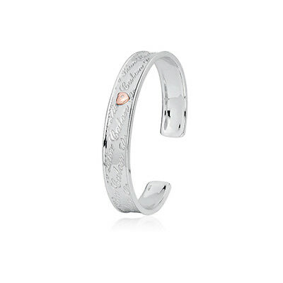 BRAND NEW Official Clogau Gold Silver & Rose Gold Calon Lan Bangle £100 off!