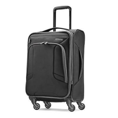 """American Tourister 4 Kix 21"""" Carry On Spinner Luggage Black 92450-1062"""